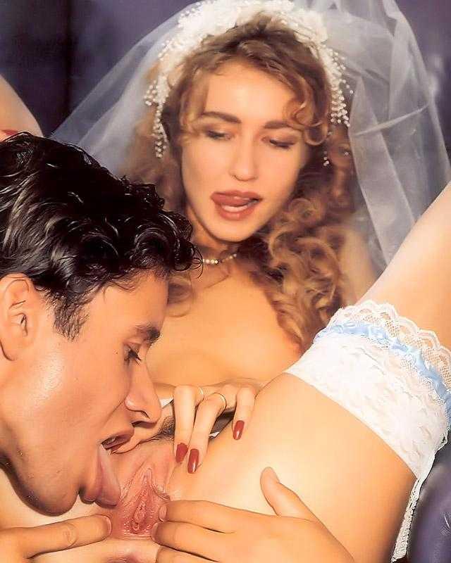 Жених вылизывает пизду невесты