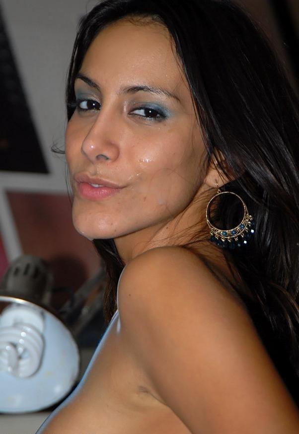 Сперма на лице кубинской девушки
